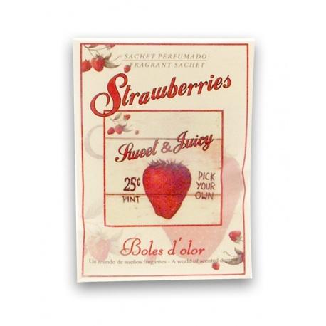 MINI SACHET STRAWBERRIES, SWEET & JUICY