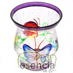 Pack de 6 vaso Butterfly Crackle