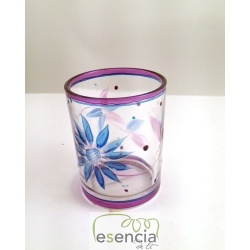 Pack 6 unidades vaso Flower Crackle