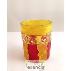 Pack 6 vasos Ola amarillo