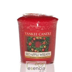 YANKEE VOTIVA RED APPLE WREATH