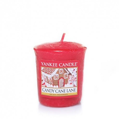YANKEE VOTIVA CANDY CANE LANE
