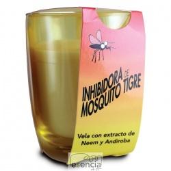 Vela Citronela Vaso Mosquito Tigre