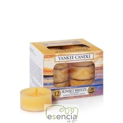 YANKEE TEA LIGHT SUNSET BREEZE 12 UN