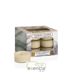 YANKEE TEA LIGHT WARM CASHMERE 12 UN