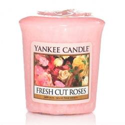 YANKEE VOTIVA FRESH CUT ROSES