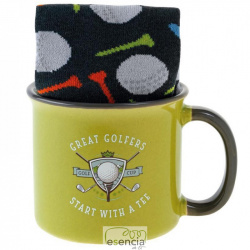 AROMA HOME TAZA + CALCETINES GOLF