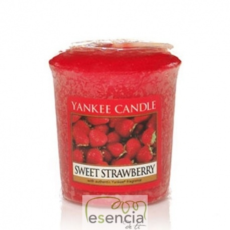 YANKEE VOTIVA SWEET STRAWBERRY