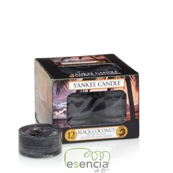 YANKEE TEA LIGHT BLACK COCONUT