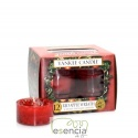 YANKEE TEA LIGHT RED APPLE WREATH